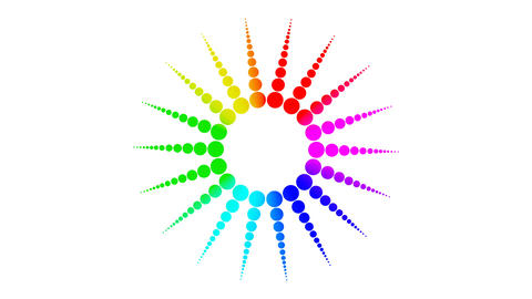 Colorful rainbow spheres molecule symbol isolated on white background in Footage