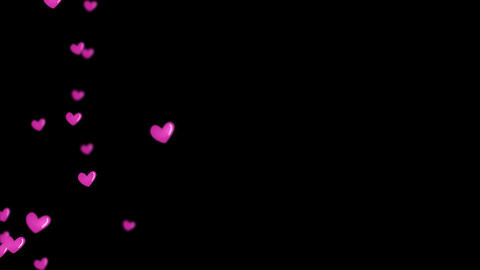 Red heart love emotion icon flying motion graphic background Stock Video Footage