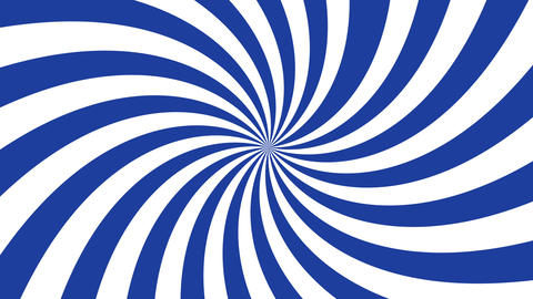 White and blue curved stripes ray burst style background, optical illusion. Footage
