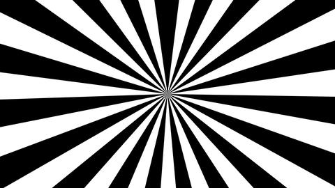 Black and white striped ray burst style background, optical illusion. Abstract Footage