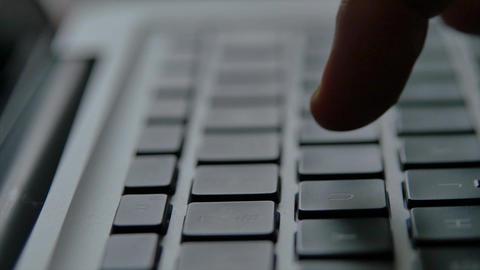 Laptop keyboard finger hand GIF