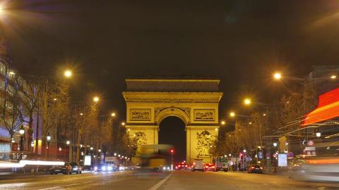 Arc de triumph-Paris France Time Lapse Live Action