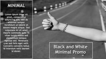 Black And White Promo 애프터 이펙트 템플릿
