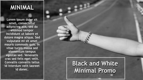Black And White Promo After Effects Template
