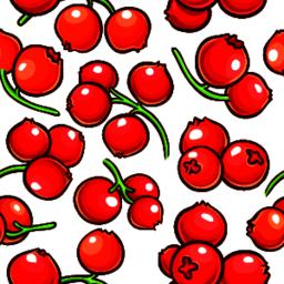 cranberry berries vector pattern Vector
