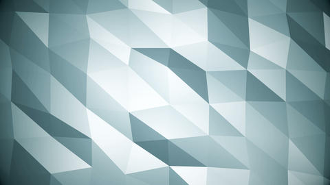 Blue Polygonal Geometric Surface Motion Background Animation