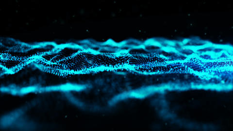 Abstract wave particles background 00193 애니메이션