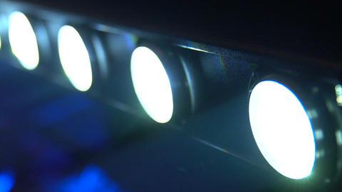 Blinking light equipment, event illumination, festival decoration, technology Footage