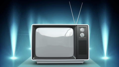 Television with flashing lights Animation