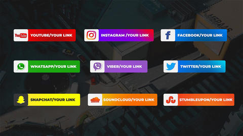 Social Media Lower Thirds After Effects Template