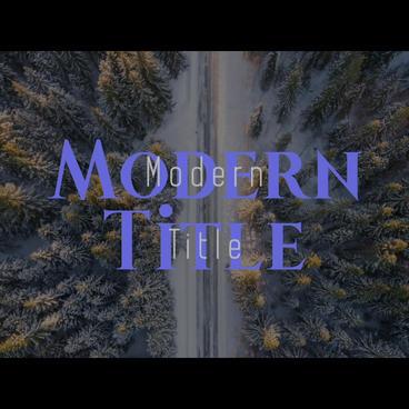 Modern title 애프터 이펙트 템플릿