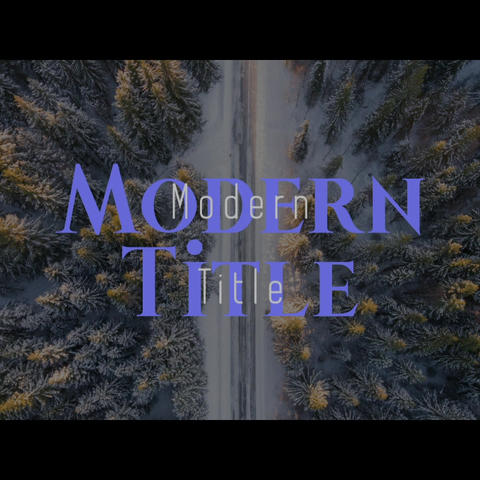 Modern title After Effects Template