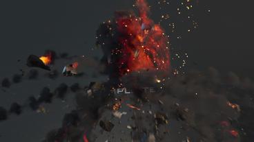 Grenade Logo Explosion Plantilla de After Effects