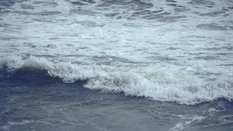 Waves at Sea Close Up Footage