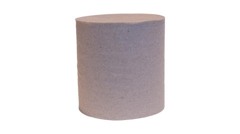 a roll of toilet paper with no background Fotografía