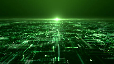 Futuristic Digital Abstract Matrix Particles Grid Animation