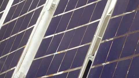 Solar panel satellite Live Action
