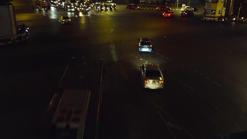 Bangkok street traffic night timelapse Footage