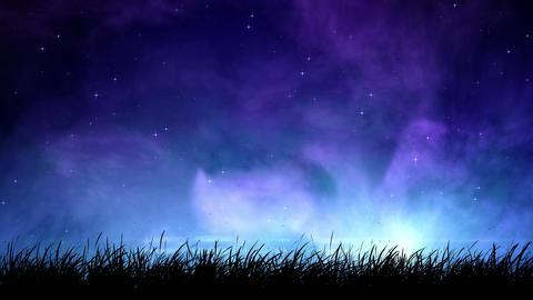Fog at night sky loop Animation