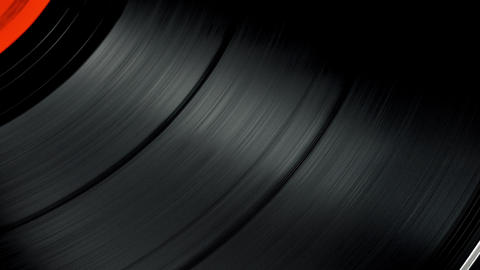 4K Loopable: Vinyl Record Spinning on Turntable at 33 RPM Footage