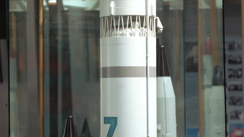 Model base two-stage launch vehicle middle class Zenit family or Satan Footage