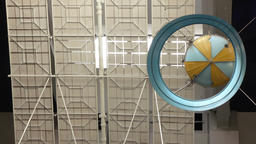 Soviet space satellite in Space Museum Footage