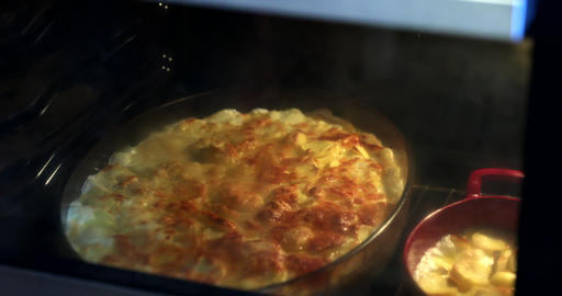 Gratin Dauphinois Baking In The Oven GIF