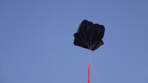 Stabilization parachute in sky Footage
