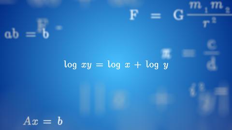Animated LOGS FORMULA Background Animation