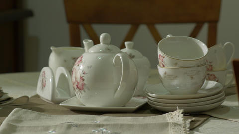 Porcelain Antique Tea Set GIF