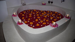 beautiful bath with flowers Footage