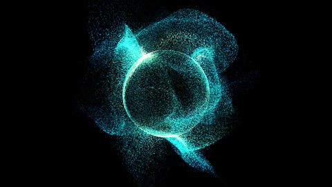 Futuristic Digital Particles Sphere Animation