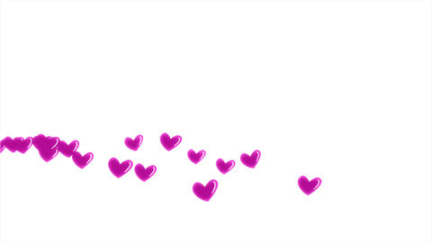 Red heart love emotion icon flying motion graphic on... Stock Video Footage