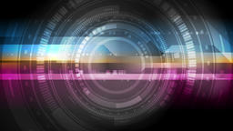 Bright abstract tech HUD interface gear video animation Animation