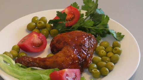Fried chicken legs 영상물