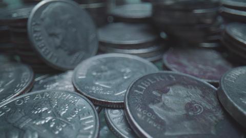 """US Coins, """"E PLURIBUS UNUM"""" Footage"""