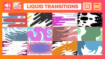 Liquid Motion Transitions After Effectsテンプレート