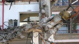 Demolition machinery working.Time Lapse Archivo