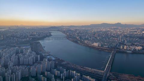 Timelapse of Seoul City Skyline,South Korea Footage