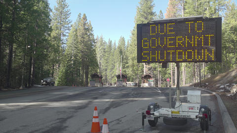 Gov't Shutdown, No Visitors Footage
