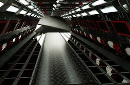 C4D High Tech Tunnel 3D Model
