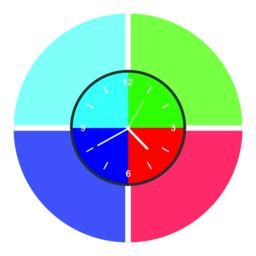 Colorful clock icon ベクター