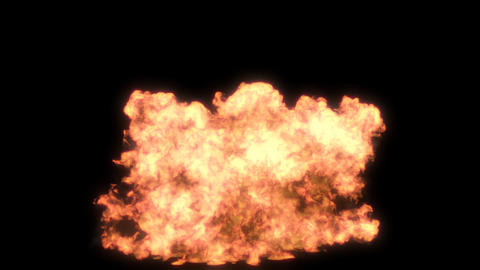Gasoline explosion 1 CG動画素材