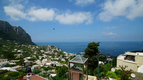 panoramic view of world famous Capri island. Campania, Italy Footage