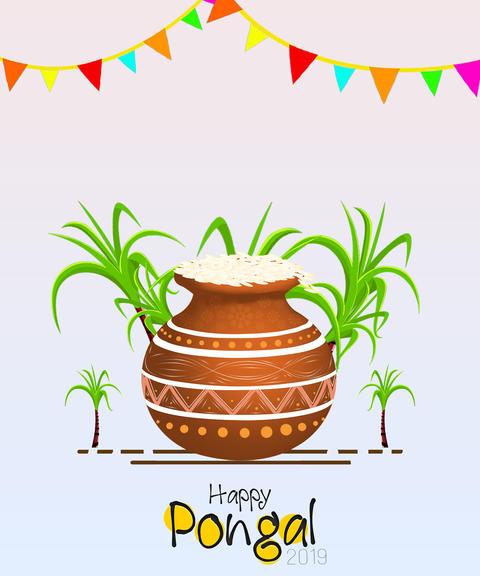 illustration of Happy Pongal Holiday Harvest Festival of Tamil Nadu South India Fotografía
