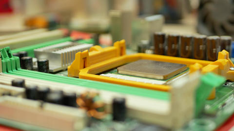 Hand of computer engineer brings computer cpu processor Footage