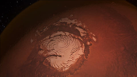 Water on Mars From Space on the North Polar Ice Cap GIF
