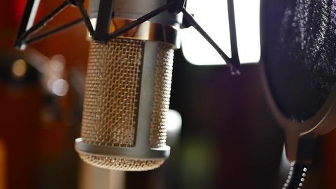 Radio microphone at studio GIF