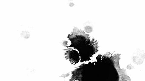 Black blots on a transparent background Footage