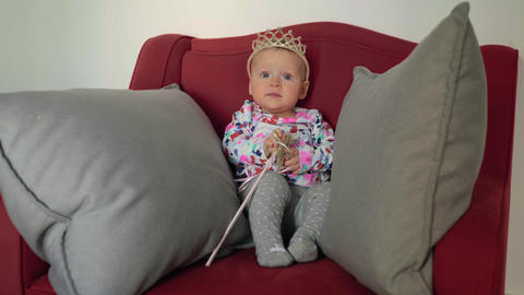 Baby girl as little princess Live Action